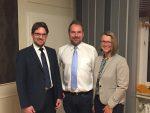 Der neue Vorstand v.l.n.r:  Marc Gottschlag, Andre Mülstegen, Susanne Dittmann