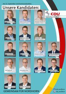 Unsere Kandidatinnen und Kandidaten für den Wahlbereich I – Nord