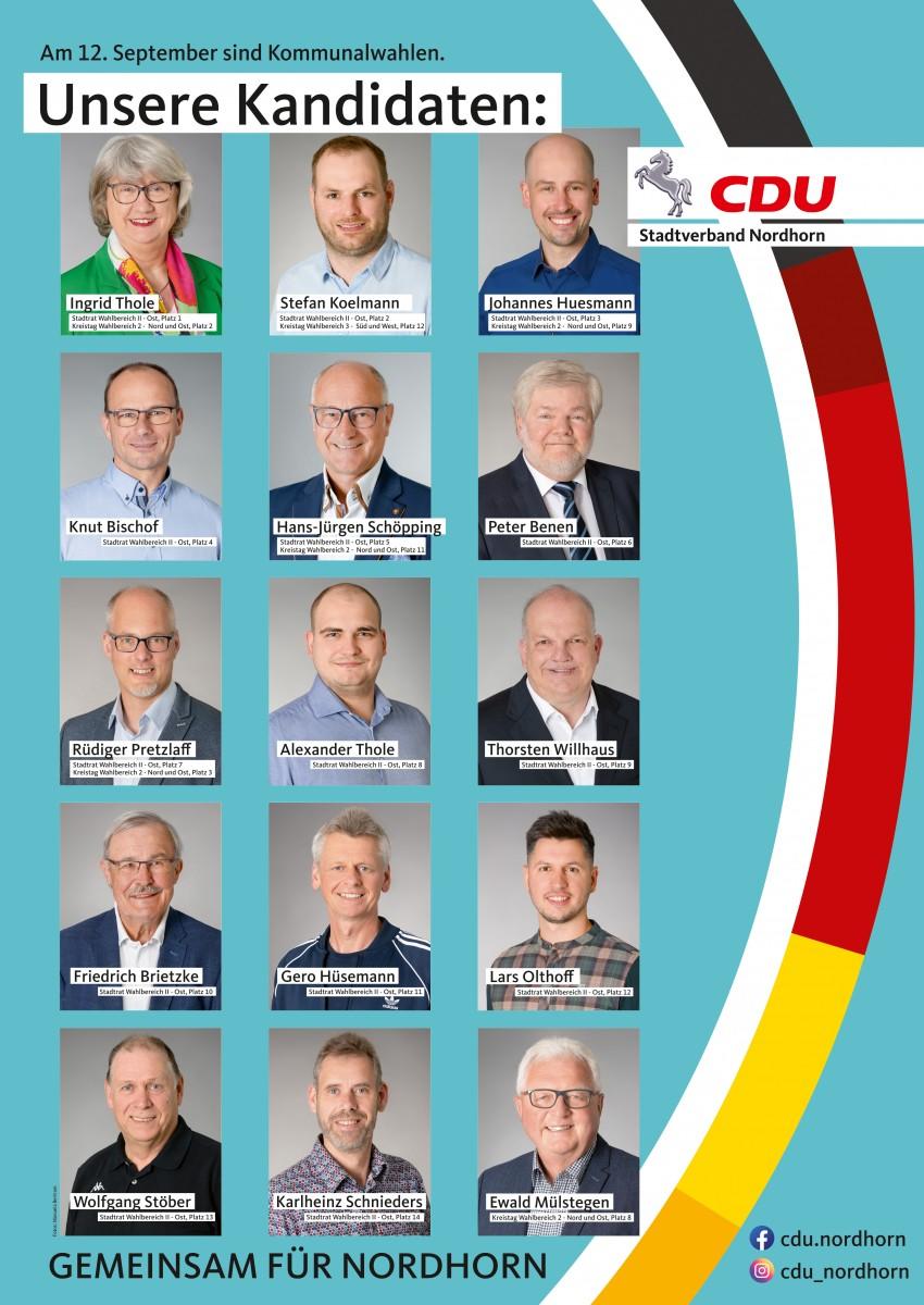 Unsere Kandidatinnen und Kandidaten für den Wahlbereich II – Ost